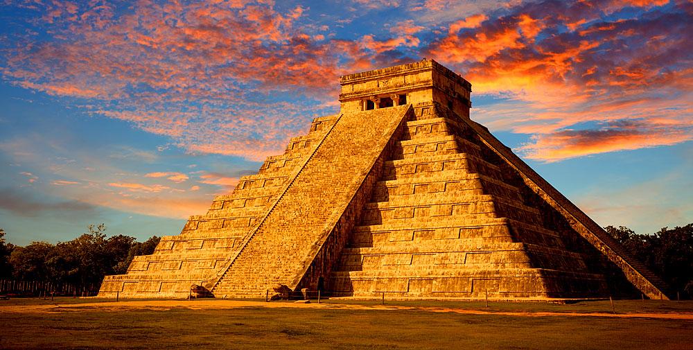 El Castillo Maya Tempel in Yucatan, Mexico