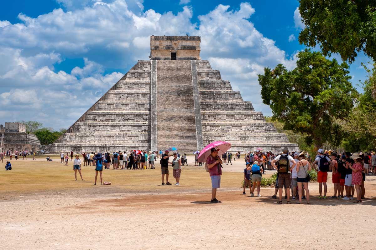 Pyramide des Kukulcan in Mexiko