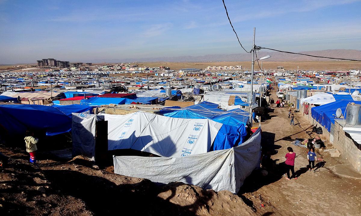 Flüchtlingscamp in Dohuk, Kurdistan