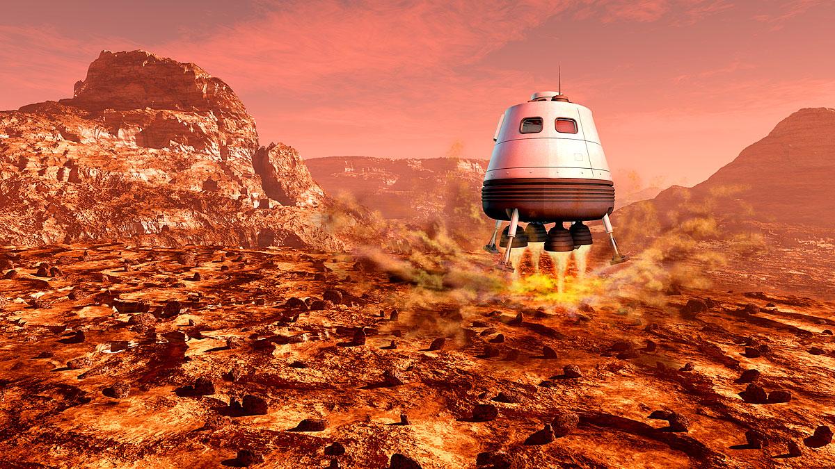 Wohnen 2025 Menschen auf dem Mars?