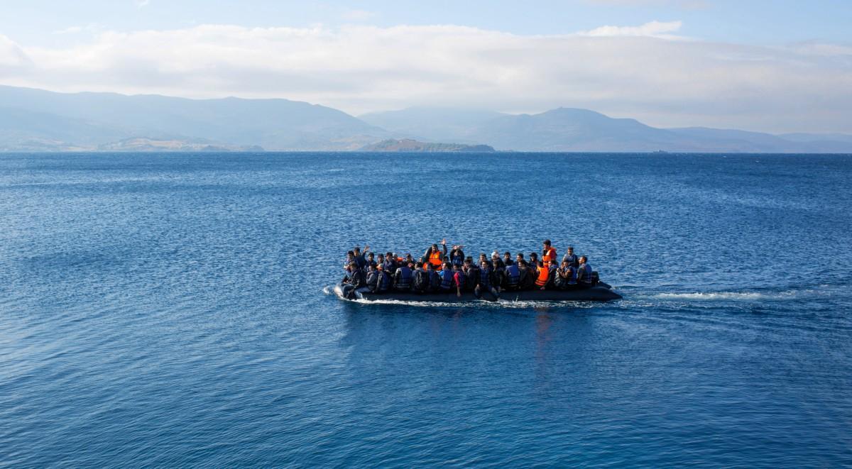 Flüchtlinge auf dem Weg nach Lesbos