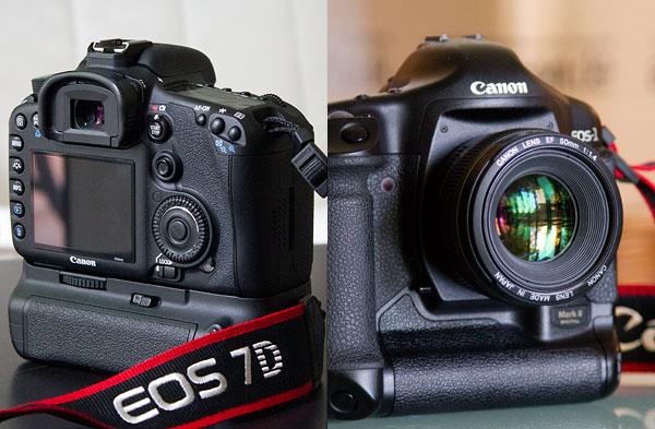 Canon 7D (APS-C), Canon 1DS (Vollformat)