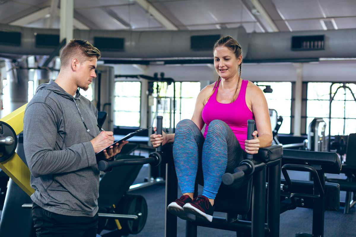 Fitnesstraining mit Anleitung