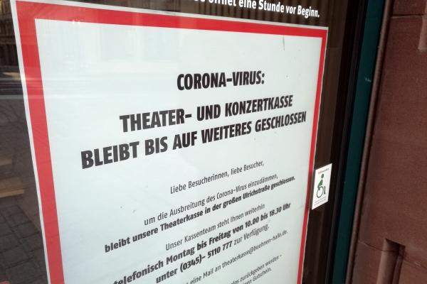 Wegen Corona geschlossene Theaterkasse, über dts Nachrichtenagentur