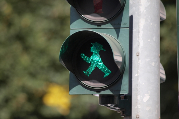 Grüne Fußgängerampel, Ampelmännchen, Ampel, über dts Nachrichtenagentur