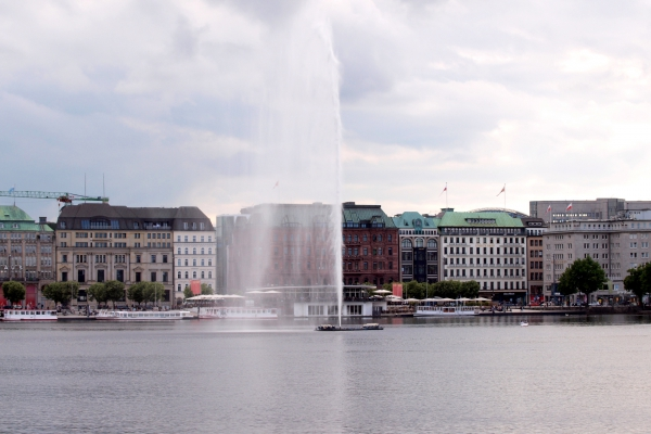Fontäne an der Binnenalster in Hamburg, über dts Nachrichtenagentur