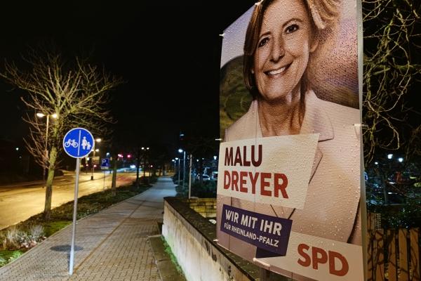 Wahlplakat zur Landtagswahl in Rheinland-Pfalz 2021, über dts Nachrichtenagentur