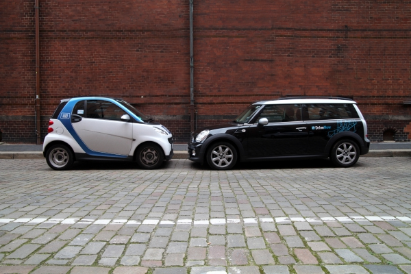 Mittlerweile zu einem Anbieter verschmolzen: DriveNow und Car2Go, über dts Nachrichtenagentur