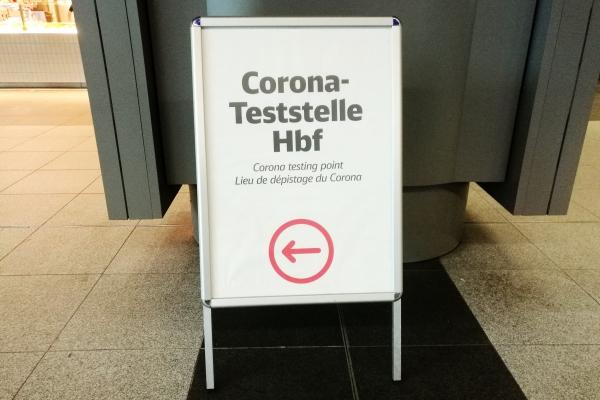 Corona-Teststelle, über dts Nachrichtenagentur