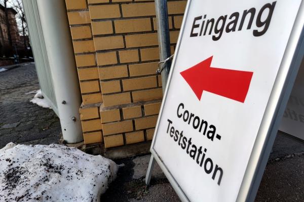 Corona-Teststation, über dts Nachrichtenagentur