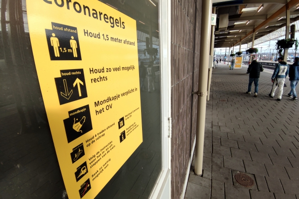 Corona-Hinweise in den Niederlanden, über dts Nachrichtenagentur