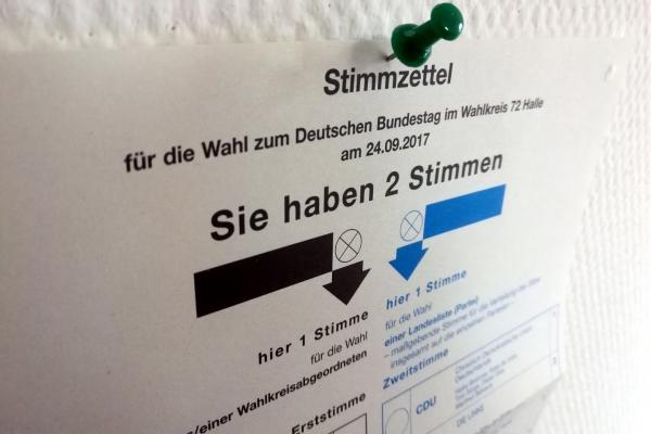 Stimmzettel für Bundestagswahl, über dts Nachrichtenagentur