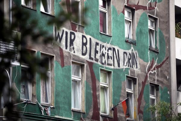 Besetztes Haus in Berlin-Kreuzberg, über dts Nachrichtenagentur