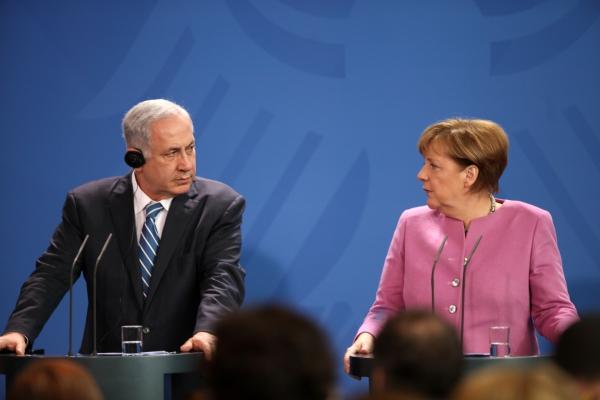 Benjamin Netanjahu und Angela Merkel, über dts Nachrichtenagentur