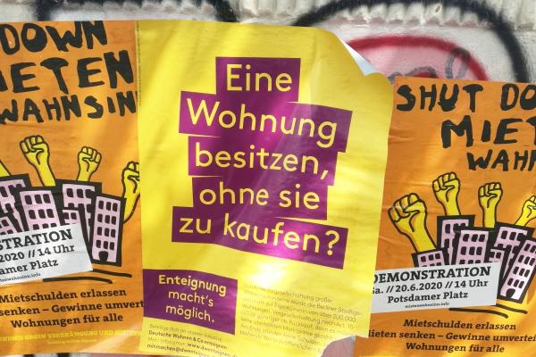 Werbung für Enteignung der Deutschen Wohnen, über dts Nachrichtenagentur