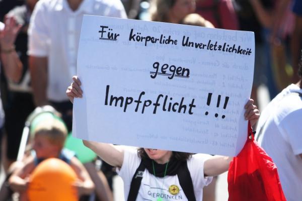 Protest gegen Impfpflicht, über dts Nachrichtenagentur