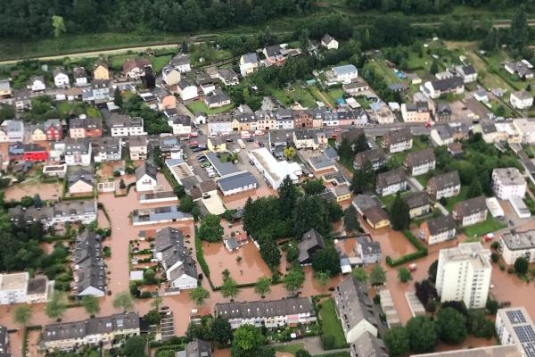 Hochwasser in Rheinland-Pfalz am 15.07.2021,  Text: über dts Nachrichtenagentur
