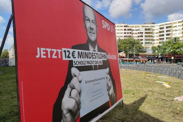 SPD-Wahlplakat in Berlin-Kreuzberg, über dts Nachrichtenagentur