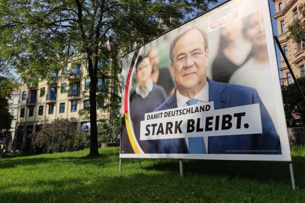 CDU-Wahlplakat mit Armin Laschet, über dts Nachrichtenagentur