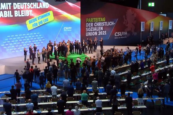 Armin Laschet auf CSU-Parteitag am 11.9.2021, über dts Nachrichtenagentur