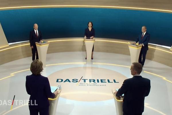 TV-Triell am 12.9.2021, ARD/ZDF-Fernsehbild, über dts Nachrichtenagentur