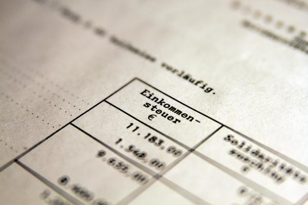 Einkommensteuer, über dts Nachrichtenagentur
